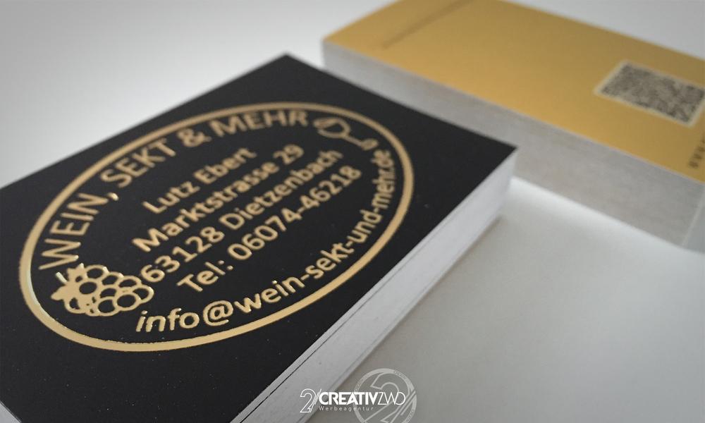 300 G M Matt Gestrichen Mit Goldprägung Creativzwo