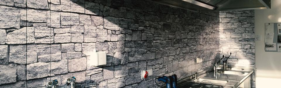 Wandfolierung Küche/Kantine